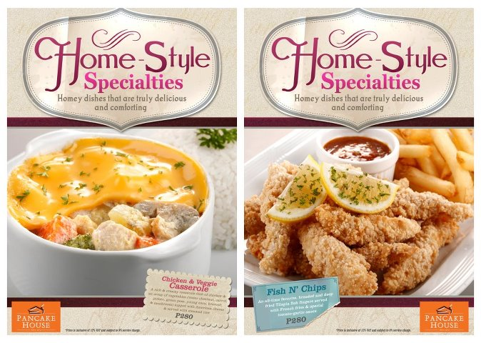 home style specialties at Pancake House