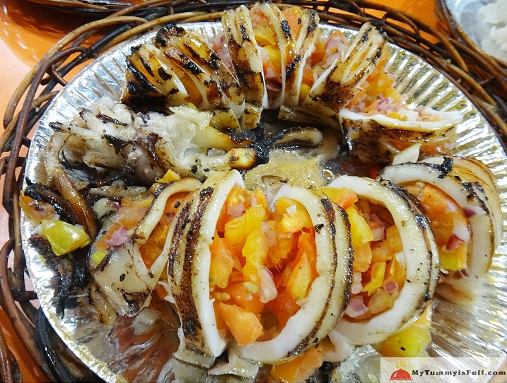 Tamerlanes Kamayan grilled squid