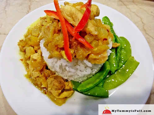 Chicken Curry with Pineapple Chutney