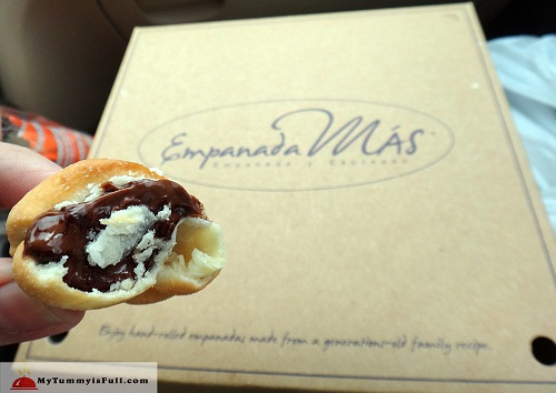 Empanaditas filled with Ferrero Nutella Hazelnut Spread