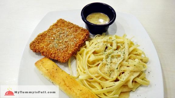 Cream Dory with Fettucini Alfredo