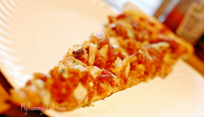 Buffalo Chicken with Blue Cheese Pizza
