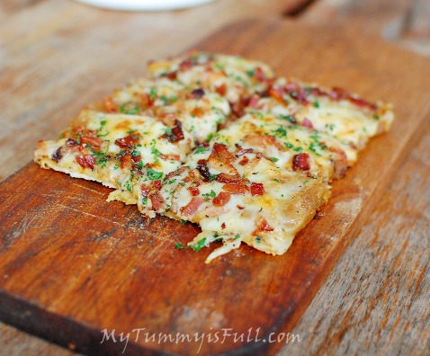 Wildflour Bacon Tarte Flambee