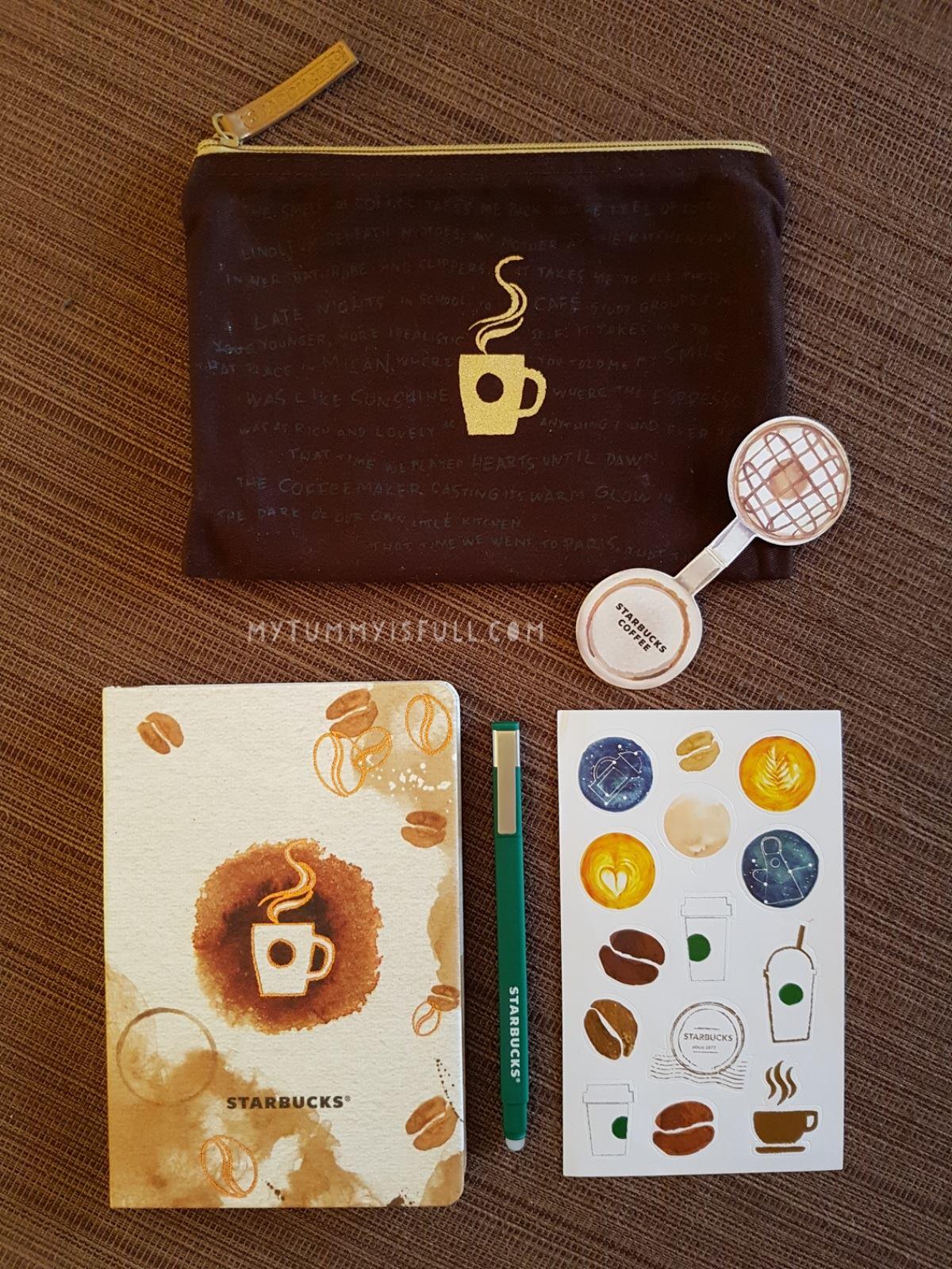starbucks coffee stain planner 2017