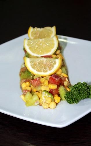Guacamole with Wheatgrass Lemon Glaze