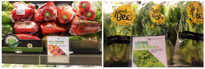 organic veggies at robinsons supermarket