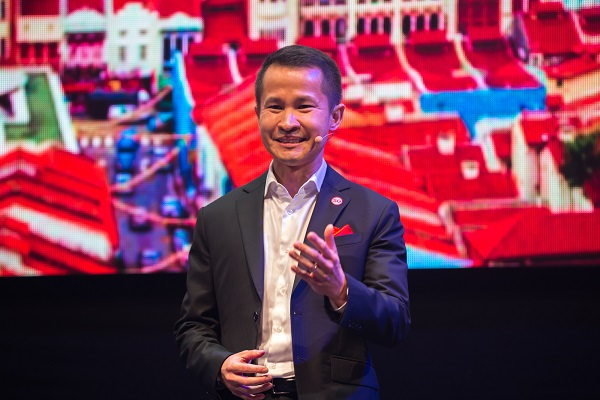 Singapore Tourism Board Chief Executive Lionel Yeo introduces Passion Ma...