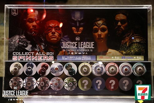 7 Eleven Justice League spinners