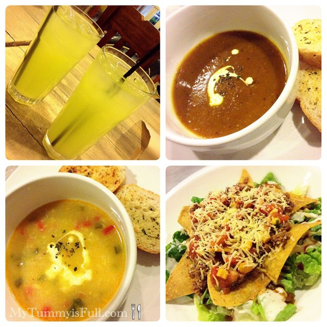 Cucumber Lemonade, Roasted Pumpkin Soup, Seafood and Corn Chowder and Fully Loaded