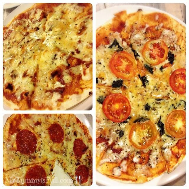 Margherita, Pepperoni, ThreeCheese Pizzas