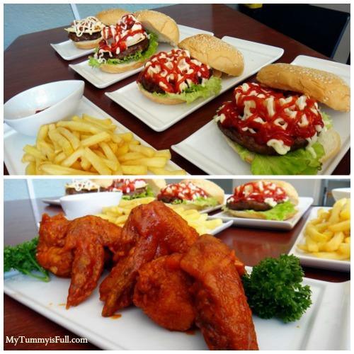 Burp burgers and buffalo wings