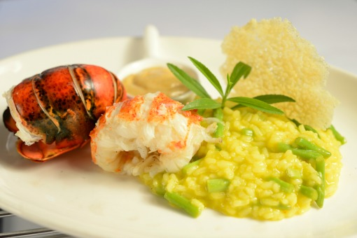 US Maine Lobster Tail on Saffron Risotto