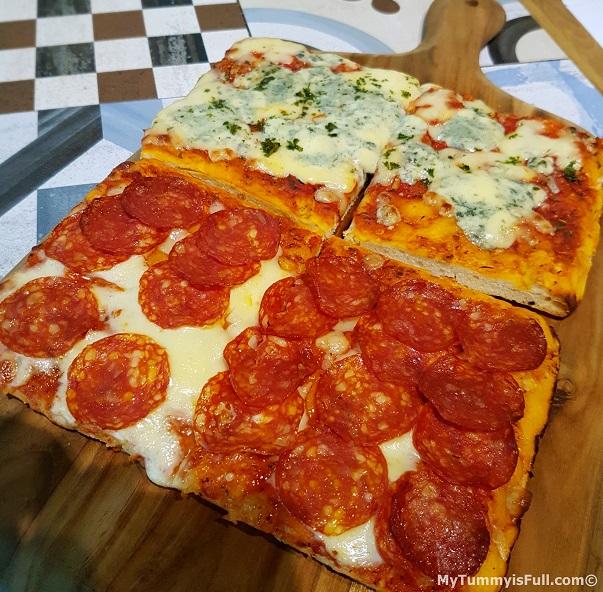 Casa Italia Pepperoni and Blue Cheese Pizza