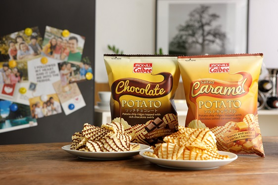 Snack Feature: Jack 'n Jill Calbee Limited Edition Salted Caramel Potato Chips and Chocolate Potato Chips #BestoPotato