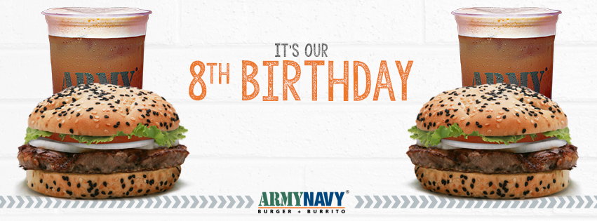 ArmyNavy Burger + Burrito Celebrates 8th Birthday