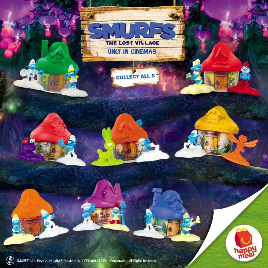 McDonald's Happy Meal Toys: Smurfs