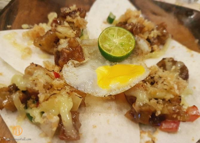 Tittos Latin BBQ and Brew Sisig Tacos