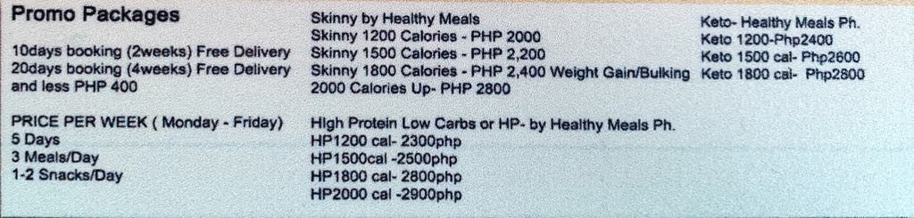 Healthy Meals PH